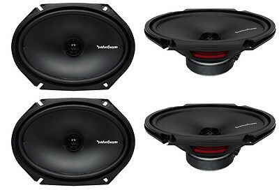 "4) New Rockford Fosgate R168X2 6x8"" 220W 2 Way Car Coaxial Speakers Audio Stereo on Rummage"