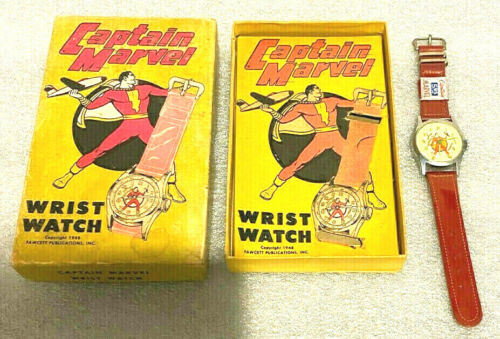 CAPTAIN MARVEL WATCH  1948 FAWCETT PUB. INC.  *  NEW  *  BOX AND PRICE TAG !!!