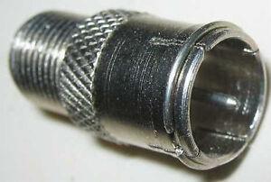 adapter f kupplung auf quick f stecker adapter schraubfrei anschluss quickf ebay. Black Bedroom Furniture Sets. Home Design Ideas