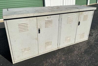 Vintage Metal Locker Workbench