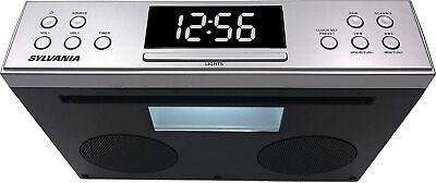 New Sylvania Bluetooth Under Cabinet H-Fi Stereo Speakers FM Radio Mounting Kit