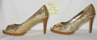 size 13 M (wide) Fioni gold glitter Ilektra platform pump, 4-3/8