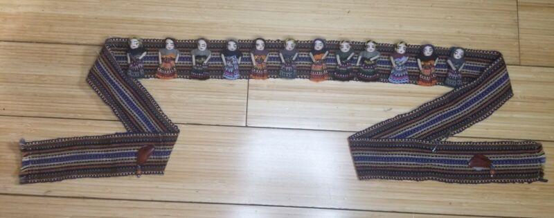 Vintage Worry/Trouble Doll Belt Handmade Guatemalan 12 Doll All Female Sash