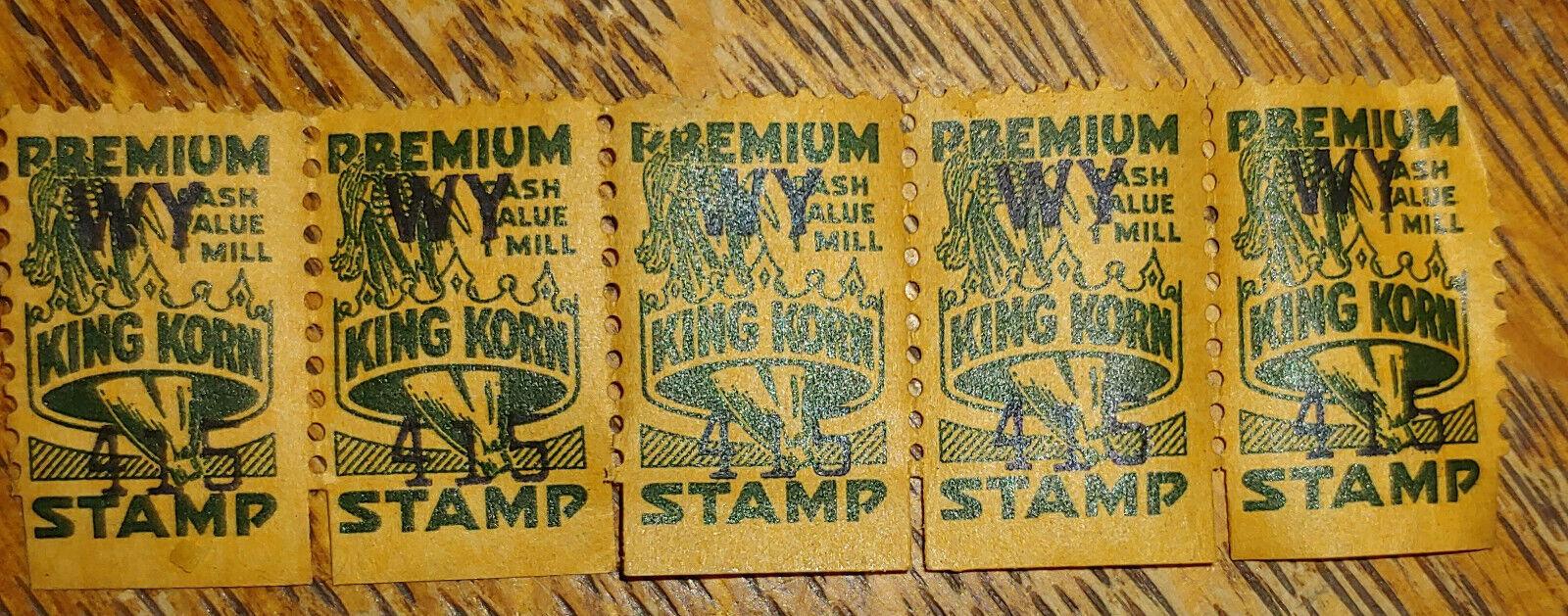 Vintage King Korn Trading Stamps - $1.00
