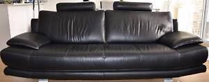 Nickscali black leather sofa Westmead Parramatta Area Preview