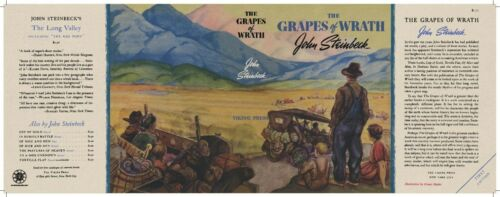 Facsimile Dust Jacket ONLY John Steinbeck The Grapes of Wrath 1st Edition 1939