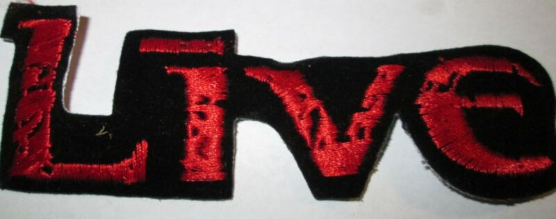 LIVE THE BAND COLLECTABLE RARE VINTAGE PATCH EMBROIDED 90