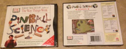 Pinball Science Design Build Pinball Games Win Mac PC CD Game NEW factory sealed
