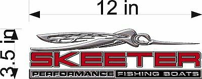 "SKEETER Boats 3D Bug / SINGLE / 12"" RED Vinyl Vehicle Watercraft Decal Graphics"