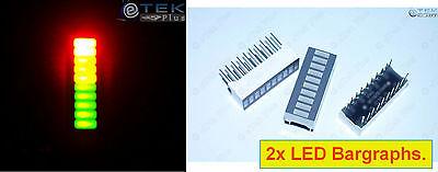 X2 Led Bargraph 10-segments Tri-color Fixed For Led Vu Meter Arduino - Usa