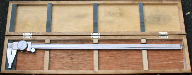 "Aerospace 24"" Dial Caliper .001"" Stainless Steel Hardened With Wooden Box"