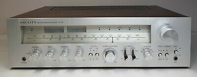 Working Vintage 376R Scott AM/FM  Stereo Receiver,Wood Case