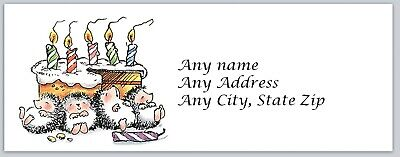 Personalized Address Labels Birthday Cute Hedgehog Buy 3 Get 1 Free Ac 541