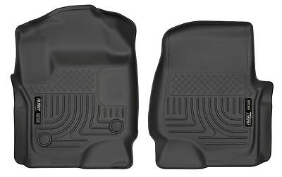 HUSKY WeatherBeater Front Floor Mats for 17-19 FORD F250 F350 F450 CC EC 13301