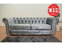 THE CHESTERFIELD BRAND NEW CRUSHED VELVET SOFA SET 3 + 2