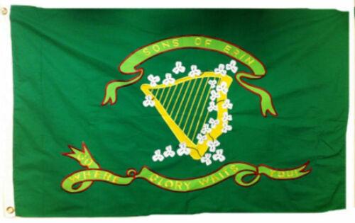 3x5 ft Sons of Erin 10th Tennessee Irish Regiment CSA Civil War Flag Polyester