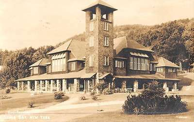 Silver Bay New York Auditorium Real Photo Antique Postcard K48219