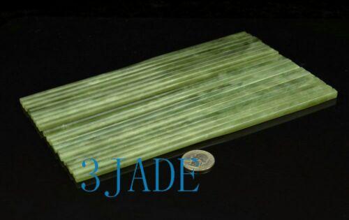 10 Pairs Natural Serpentine Chopsticks Chinese Xiu Jade Stone Chopsticks