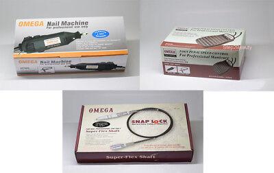 OMEGA Rotary Super Flex Shaft (SNAP-LOCK) Nail Drill 3/32