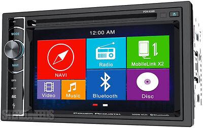 "Power Acoustik PDN-626B DOUBLE DIN CD/DVD Player 6.2"" GPS Navigation Bluetooth"