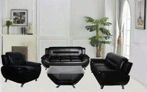 NEW 3PC SOFA SET WITH FREE COFFEE TABLE ONLY $998  IN STOCK  WE DELIVER