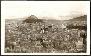 VUE D' ATHÈNS, HOUSES IN ATHENS FROM COLISEUM HILL, ATHENS, GREECE 1935