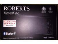 Portable Bluetooth speaker - Roberts TravelPad - virtually brand new
