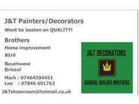 J&T PAINTER'S/DECORATORS painter and decorator