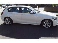 BMW 1Series 1.6 118i Msport sports hatchback 5Dr(start/stop) with BMW smart cover till sept 2018