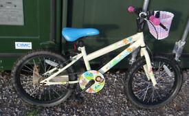"Apollo Woodland Charm Kids Girl's Bike, single speed, 18"" wheels, 10.5"" frame, suit 5-8 years old"