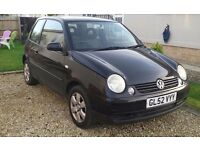 VW LUPO, 1.4 petrol, 3 door, black with just over 11mths MOT.