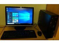 "Lenovo Windows 10 Pro Slim PC Computer/WIFI/4GB RAM/160GB/19"" Monitor"