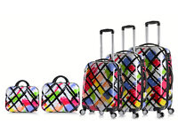 4 Wheel Spinner Hard Shell Trolley Suitcase Luggage Set Cabin Case Travel Bag Vanity Hand Bag Saver