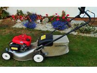 HONDA IZY 16in. SELF PROPELLED PETROL LAWNMOWER, MINT, CAN DELIVER IPSWICH AREA