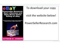 Power Seller Research: Start a successful Ebay business