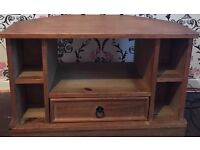 Wooden TV Stand, Solid Pine Television Cabinet Entertainment Unit, 33""