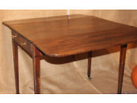 Georgian 19th Century Mahogany drop leaf table