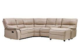 Cream verona reclining brand new corner sofa**Free delivery**