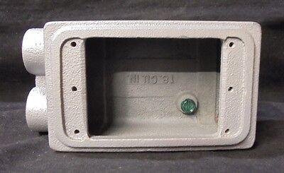 Appleton Device Box Fss-1-50 12 Hubs Unilet Single Gang Threaded