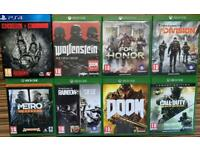 8 Game bundle perfect condition xbox and ps4, £40 no singles bundle only. Been played once or twice