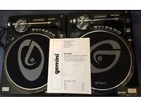 Gemini SV2200 Dj Turntables x2