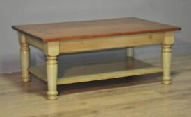 Attractive Large Vintage Pine Coffee Occasional Table