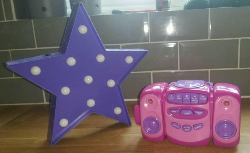 STAR LAMP & CHILDREN'S TOY CD PLAYER