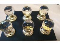 6,new clear glass door knobs.