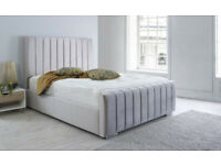 🔴🔵🌸 ARIZONA STYLE DOUBLE/KING BED FRAME ONLY 165/185 MATTRESS ON OPTION