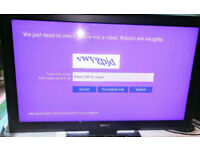 "40"" Sony FHD tv has freeview built in has remote has usb ports"