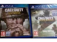PlayStation 4 games - call of duty legacy edition and Call Of Duty WW2