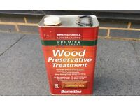 Barrettine Premier Wood Preservative - Summer Tan, 5 litre tin