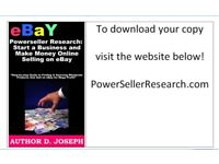 Start An Ebay Buisness Today! : PowerSellerResearch dot com