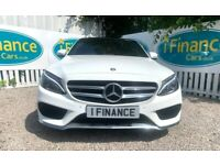 CAN'T GET CREDIT? CALL US! Mercedes-Benz C220 2.1 CDI AMG Line BlueTEC - £200 DEPOSIT, £87 PER WEEK
